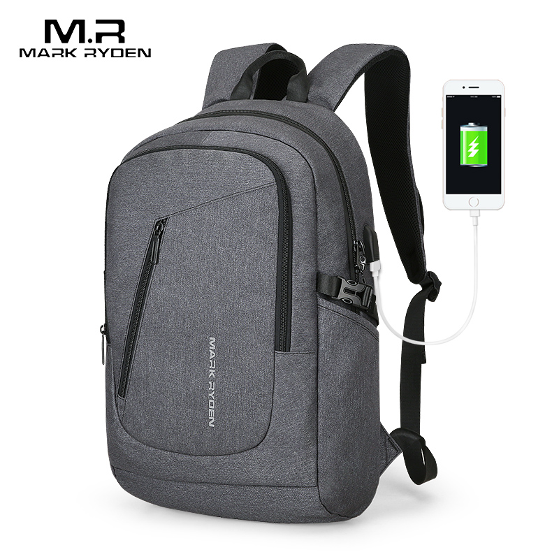 Mark Ryden Multifunction USB Charging Backpack Can Fit 15.6 inch Laptop Student Male Bag MochilaMark Ryden Multifunction USB Charging Backpack Can Fit 15.6 inch Laptop Student Male Bag Mochila