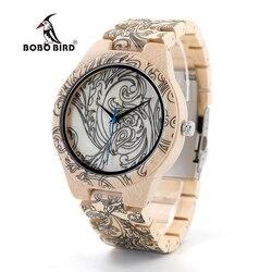 BOBO PÁSSARO Homens relógios de madeira Projeto Original Vintage Analog de Quartzo relógio de Pulso Personalizado o logotipo como o Presente