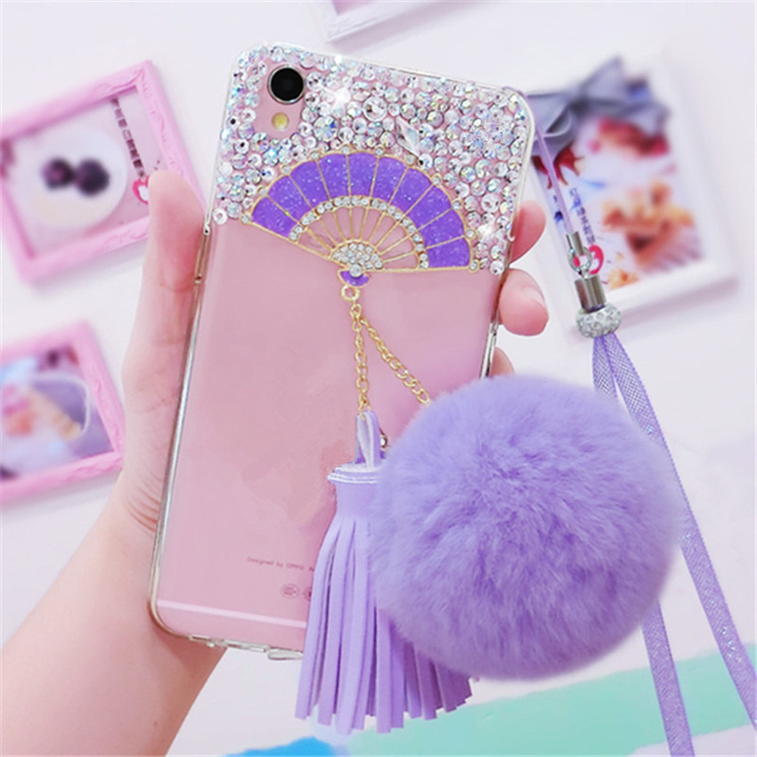 For-Samsung-J3-J5-J7-Prime-2016-2017-Pro-Glitter-Bling-Fan-Rhinestone-Phone-Case-Soft (2) -