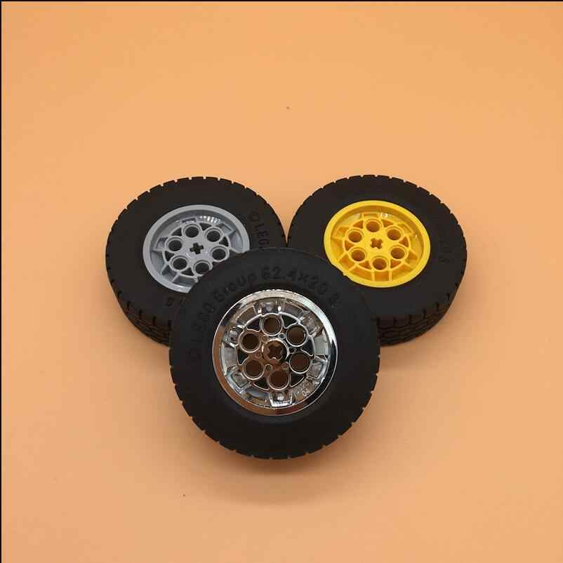 1pcs/lot MOC Bricks Technic building blocks accessories 62.4x20 car tires compatible with  86652c01 wheels 32019+86652