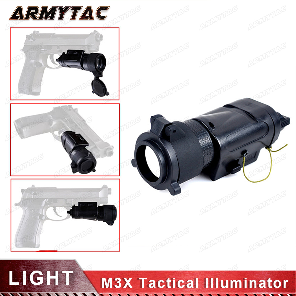 Flashlight L-3 Warrior Systems Light SF M3X Tactical Illuminator US Army Pistol Light EX 185 ex 179 tactical torch element tactical light l 3 advanced illuminator combo with an peq 16a and m3x hunting tactical flashlight