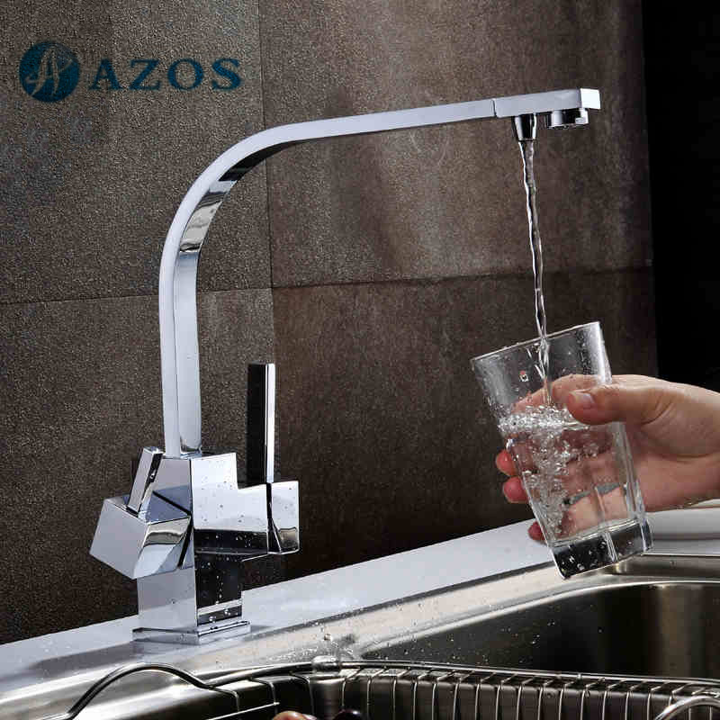 Kitchen Faucet Purified Water Purification Faucets Deck: Kitchen Sink Faucet Water Purification Filter Tap Swivel