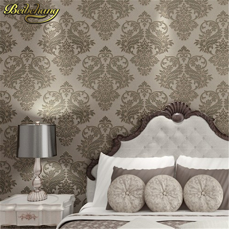 beibehang 4 Color Victorian Damask scroll background wall wallpaper pvc roll wall papers home decor for living room & bedroom
