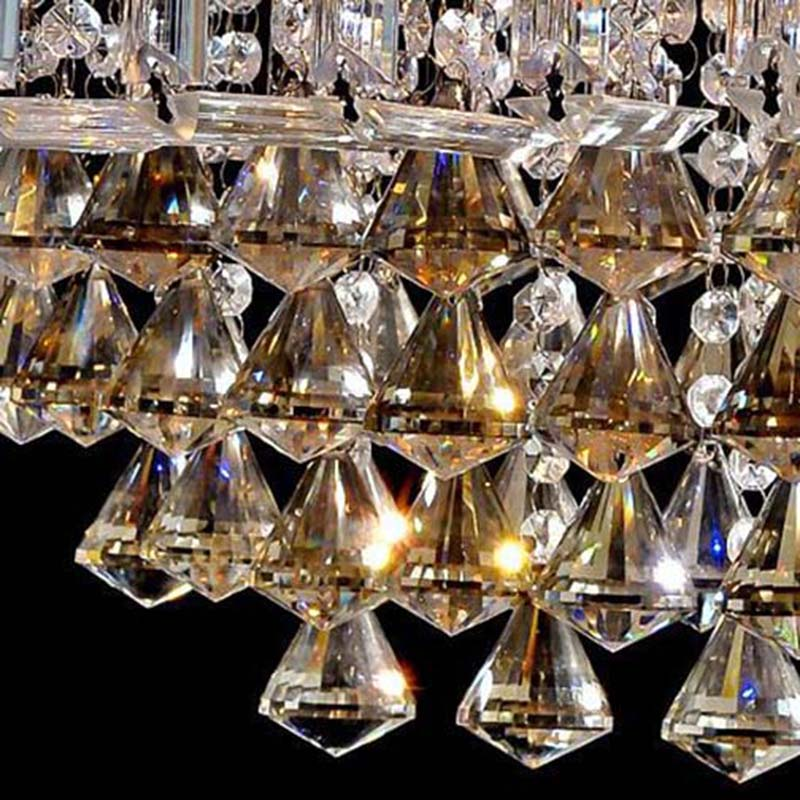 Image 5 - Top selling special price 100% guaranteed large modern brief ceiling crystal chandelier, crystal lighting for living room hall-in Chandeliers from Lights & Lighting