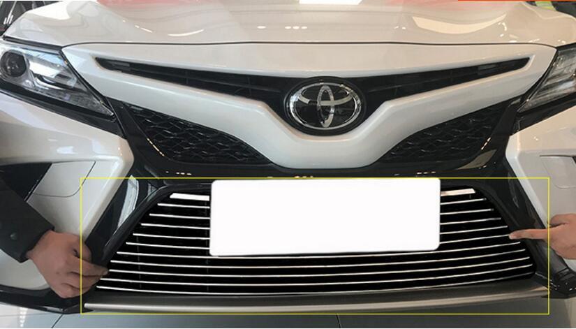 JIOYNG voiture en acier inoxydable sous pare-chocs avant grilles de course GRILLE autour du revêtement d'habillage pour TOYOTA CAMRY 2018 (convient seulement 2.5 s/2.0 s)