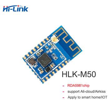 Darmowa wysyłka 2 sztuk partia niski koszt HLK-M50 RDA5981 zastąpić esp8266 moduł bezprzewodowy tańsze szeregowy moduł wifi tanie i dobre opinie bibikoo Ready-to-go Wszystko kompatybilny others 24mm*16mm AP STA Wireless Wifi control Sensor Networking Smart home Smart socket IOT