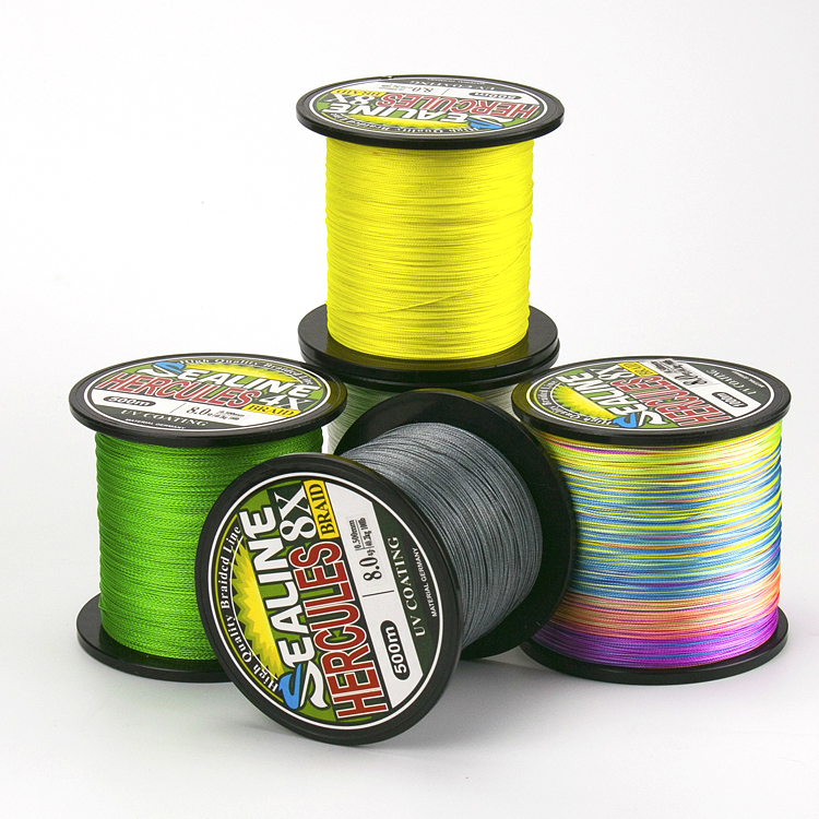 Super Strong Pulling 500m 1000m Fishing Line 4 Strands Braided Fishing Wire High Strength Durable Multicolor PE Line 0.4 10#|Fishing Lines| |  - title=