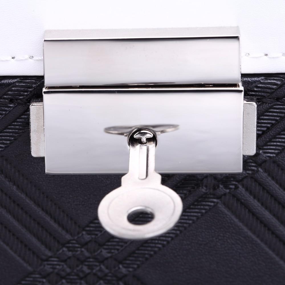 ROWLING Black Large Velvet Jewelry Storage Box PU Jewellery Rings Boxes Mirror Bracelet Earrings 2 Drawers