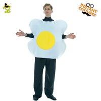 Adulto unisex huevos escalfados traje huevo rol disfraces jumpsuit para Navidad imitación partido ropa