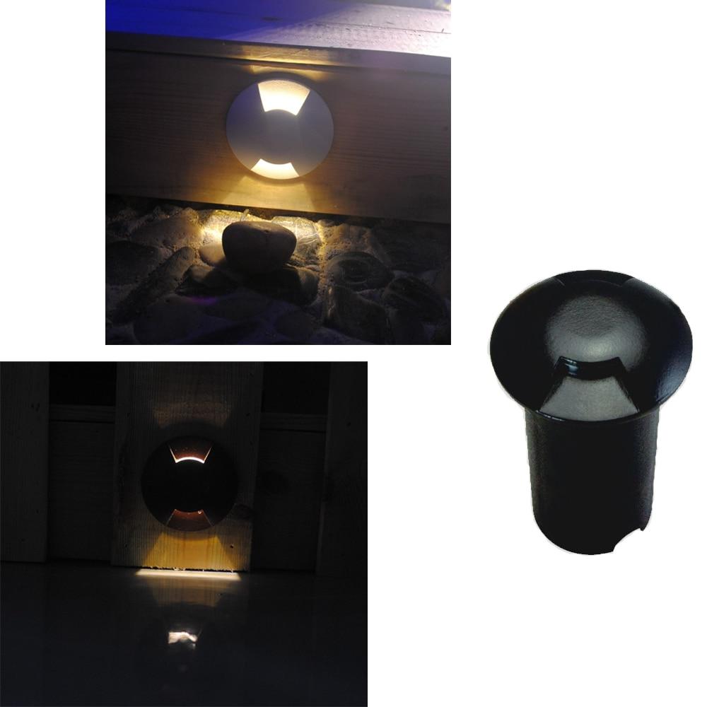 ip67 2 forma angulo de iluminacao de aluminio levou lampada subterranea led escadas luzes do jardim