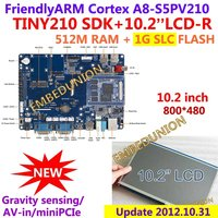 Comprar FriendlyARM S5PV210 corteza A8... TINY210 SDK + pantalla táctil de 10,2 pulgadas 512 MRAM + 1G Flash placa de desarrollo, Android4.0