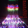 9 color (6m x 3m) LED Light Christmas Wedding Party Background Holiday Waterfall Water Flow Curtain LED Light String 640 Bulbs