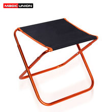 Magic Union ultraligero al aire libre Camping pesca Pony plegable taburete portátil impermeable Oxford Banco Picnic barbacoa silla de jardín(China)