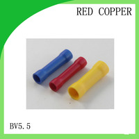 red copper 1000 PCS BV5.5 cold-pressure terminal Terminator wire connector Butt Connectors Assortment Joiner Crimp