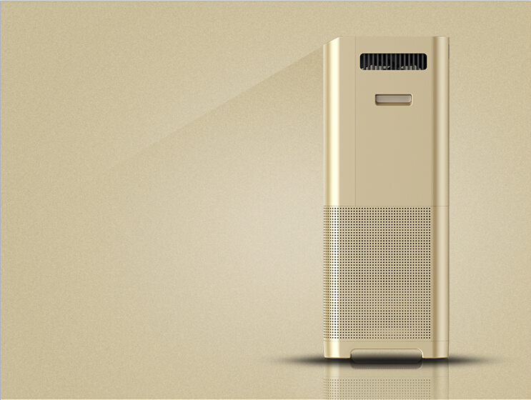 Household professional air purifier with HEPA and activated