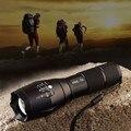 Zoom in/out ajustável foco xml-t6 2000lm 5 modo led lanterna tocha luz para camping fornecimento de energia por 3 * aaa/1*18650 bateria