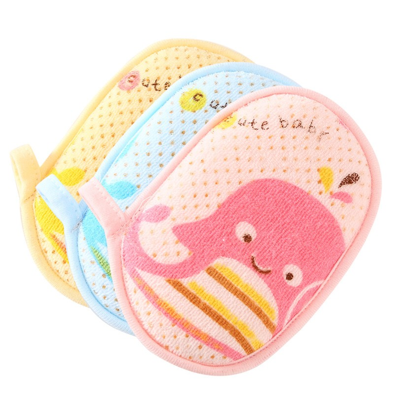 Pure Cotton Baby Bath Brushes Cartoon Toddler Sponge Bath & Shower Products For Bebe Bubble Brush