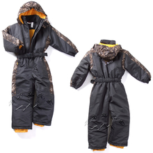 winter Rompers kids clothing boy outdoor waterproof coat small children ski suit girls overall windproof jumpsuit cotton padded