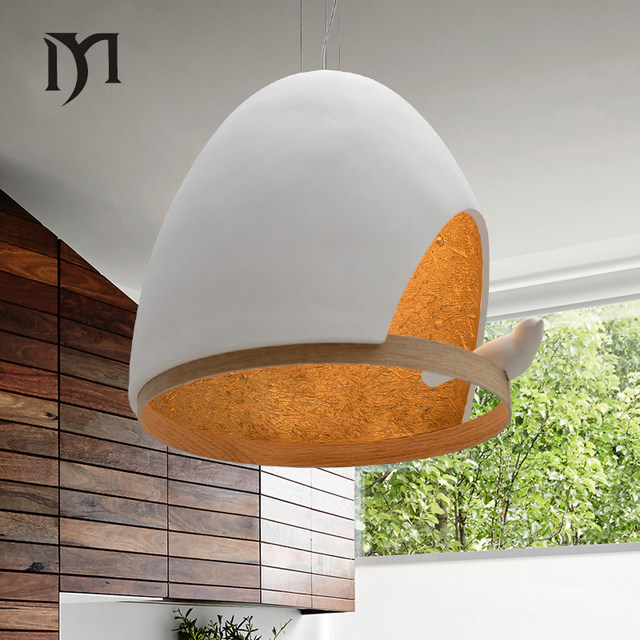 Online Shop Vogels hanglampen vintage leuke lamp hars vogel stof ...