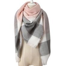 Drop Ship Winter Brand Women Scarf  Fashion Warm in Winter  Plaid Shawl Wool Blanket Scarves Triangle Bufanda Wholesale
