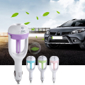 12V Mini Car Steam Humidifier Air Purifier Aroma Aromatherapy Essential Oil Diffuser Mist Maker Vehicle Power Supply Air Purifie