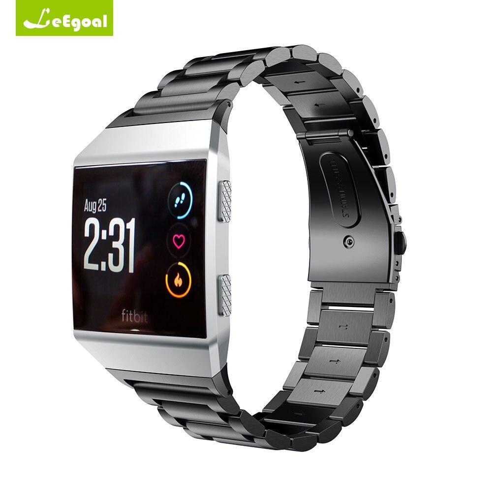 Pour Fitbit Bande Ionique Bracelet En Acier Inoxydable 20mm Smartwatch Métal Remplacement Dragonne pour Fitbit Ionique Montre Smart Watch Bande 20mm