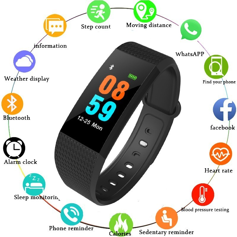COXRY Fitness Smart Watch Women Android Sport Watches For Men Pedometer Digital Blood Pressure Calorie Counter Wrist