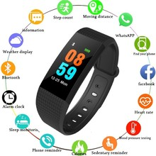 цены на COXRY Fitness Smart Watch Women Android Sport Watches For Men Pedometer Digital Watch Blood Pressure Calorie Counter Wrist Watch  в интернет-магазинах