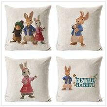 Fokusent Peter Rabbit Cushion Cover European Style Pillow Case 45*45 Thick 3D Print Decorative Pillows Cotton