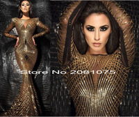 New Sequins African High Quality Net Lace French Gold Line Voile Guipure Tulle Mesh Lace Fabric