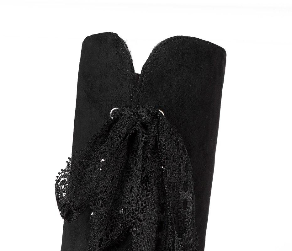 Qualité 40 noir Chaussures Chaud 46 45 47 48 2018 Taille Genou 44 D'hiver Femme 41 Boot Sur Botas Le 43 42 Main Beige Haute Grande vYYxqRS