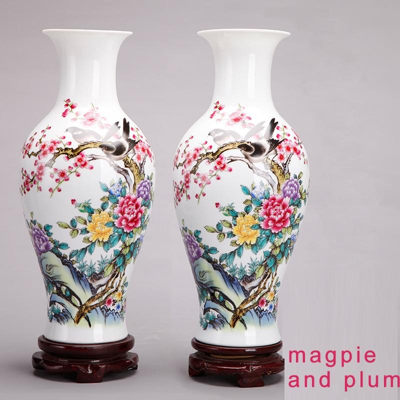 אגרטל לבן גבוה - Jingdezhen ceramics kiln crystalline glaze vase high white clay  household adornment creative furnishing articles gifts