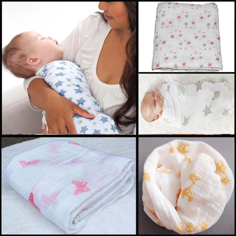 Mother & Kids Baby Bedding Careful Cotton Baby Blanket Flamingo Soft Multi-functional Muslin Baby Blankets Bedding Infant Swaddle Towel For Newborn Swaddle Blanket Selected Material