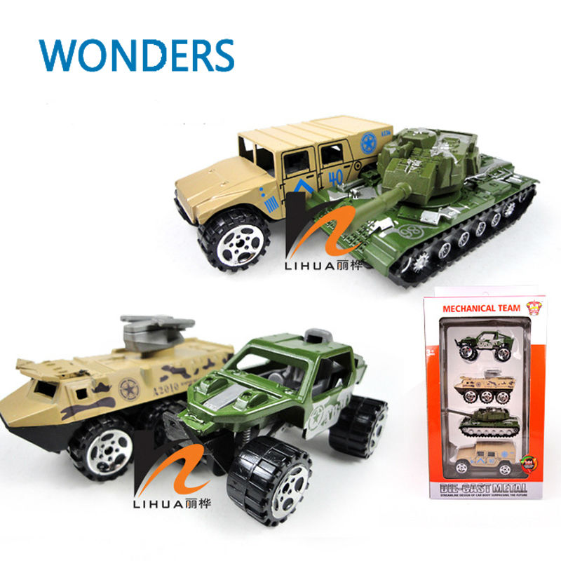Military Vehicle Toys For Boys : Diecast and toy vehicle alloy metal suit pieces set