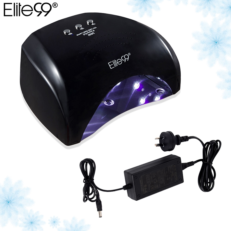 Elite99 US AU 36W LED Nail Lamp Curing Light Classic Black Color Nail Art Manicure Tools Professional Nail Dryer For Gel Polish professional 48w led uv lamp for curing nail gel polish nail lamp for nail art tools with eu au us uk plug