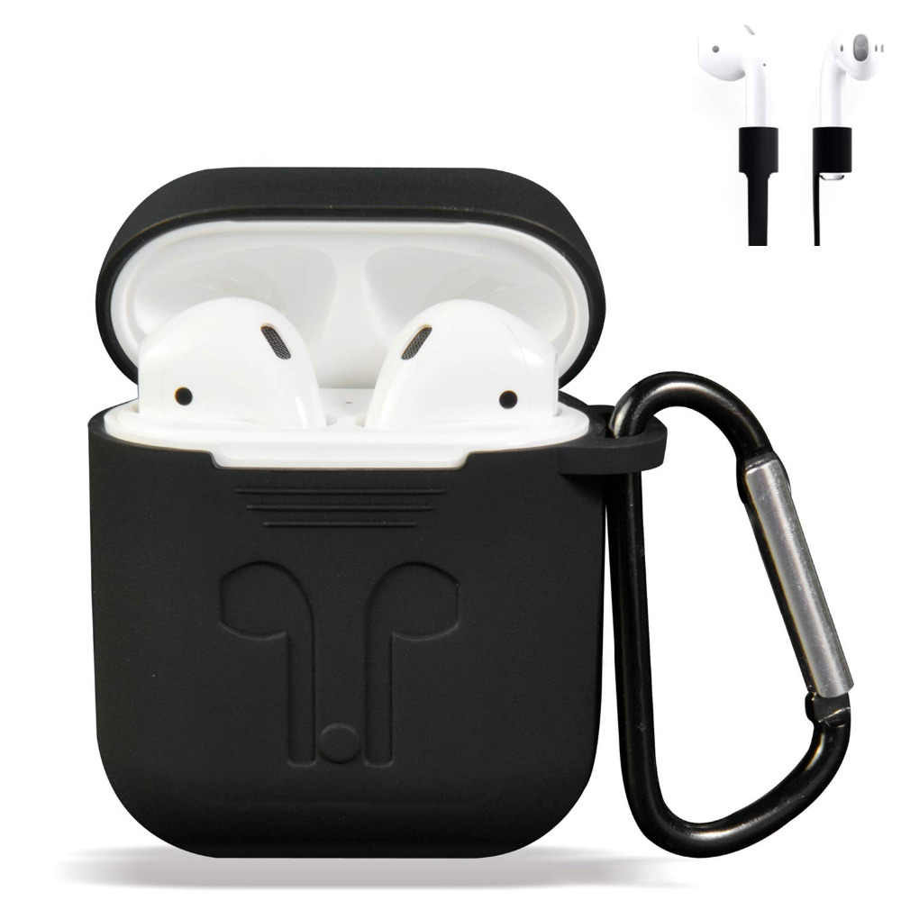 2019 new for AirPods Case Protective Silicone Cover Case Shockproof Earpods Case for Apple Headphone For Apple Air Pods Case
