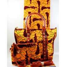 Золотая модная африканская дизайнерская женская сумочка из вощеной