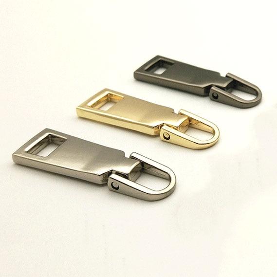 10 pcs Detachable 5 Metal Zipper Slider Head Puller Tab Zipper Repair Kits DIY Sewing Handwork Bag Luggage gold silver black in Zipper Sliders from Home Garden
