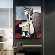Pablo Picasso Jacqueline With Crossed Hands Canvas Painting Print Living Room Home Decor Modern Wall Art Oil Posters HD