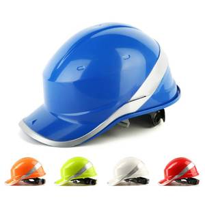 Safety Helmet Hard-Hat Work-Cap Protect Construction-Site Deltaplus with Phosphor Stripe