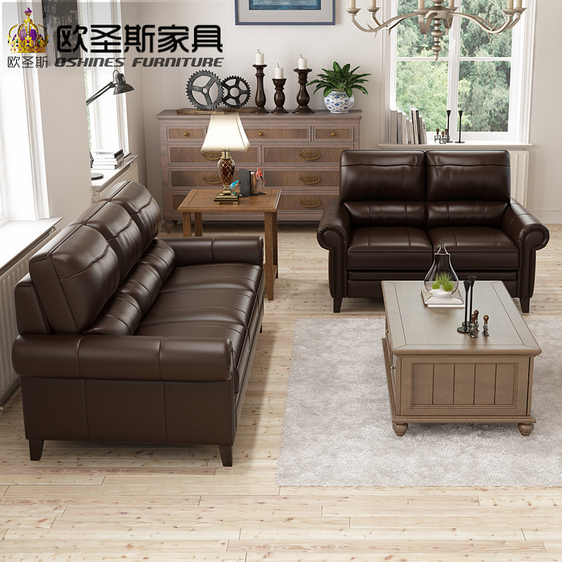 Chocolate Chesterfield Sofa American Style Italian Top Grain Leather Factory Direct Furniture Prices F69a In Living Room Sofas From