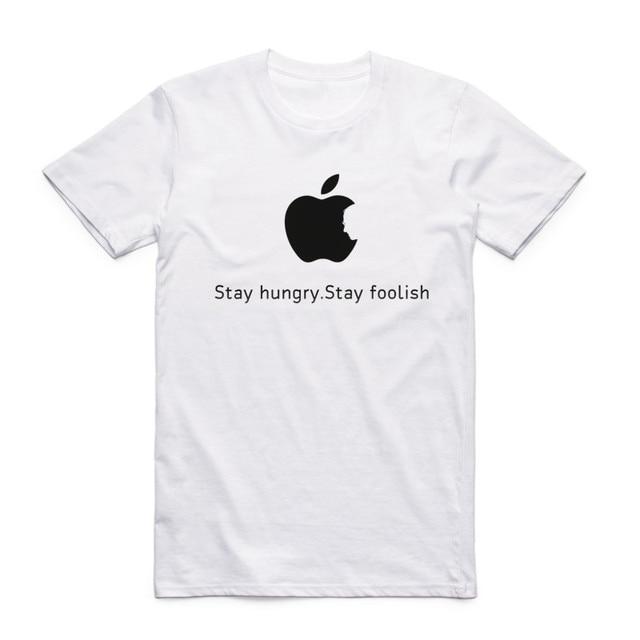 Fashion Men Women Print Steve Jobs Apple Design Classic T-shirt Short Sleeve O-Neck Summer Casual Top Tee Funny T Shirt  4