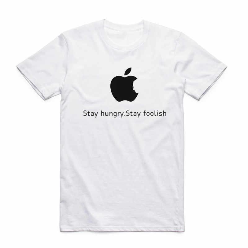 แฟชั่นผู้ชายผู้หญิงพิมพ์ Steve Jobs Apple ออกแบบคลาสสิกเสื้อยืดแขนสั้น O-คอฤดูร้อน Casual TOP TEE เสื้อ Funny T