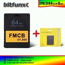 بطاقة ذاكرة Bitfunx Free McBoot (FMCB)64 ميجابايت فولت 1.966 (إصدار جديد ووظيفة جديدة) + 8/16/32/128/MB علبة كوتشينة الذاكرة