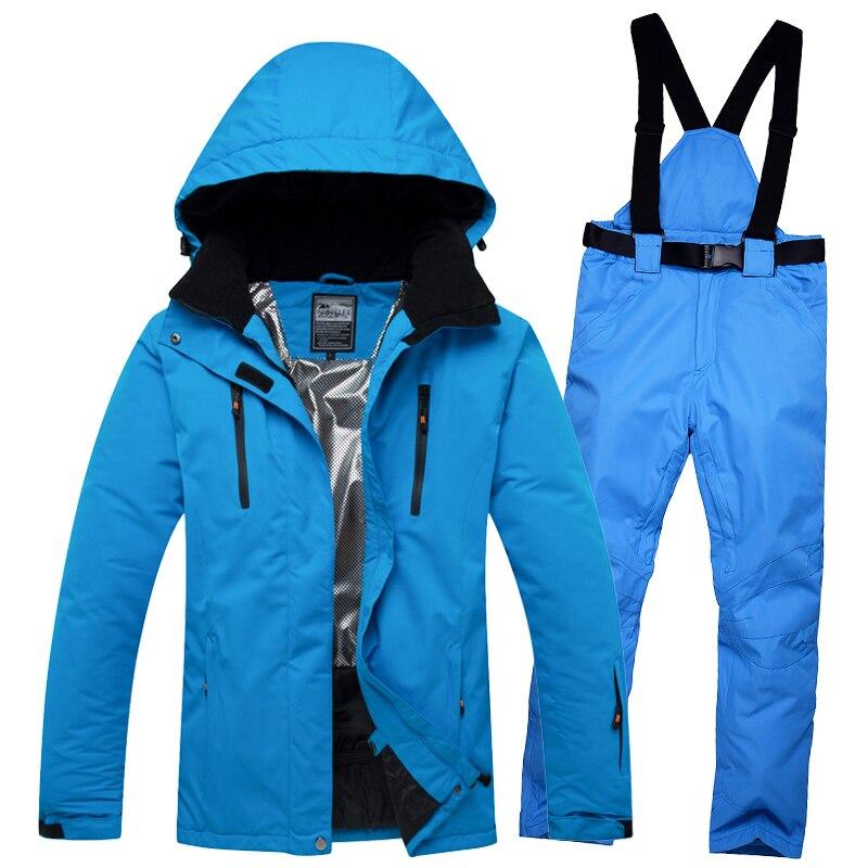 Hommes Femmes Hiver Ski costume 2018 Haute Qualité Ski Veste Et Pantalon de Neige Chaud et Imperméable Coupe-Vent Ski Et Snowboard Costumes
