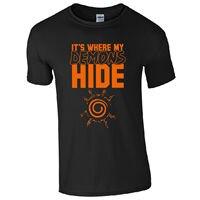 זה שבו להסתיר שדים שלי חולצה-אוהד נארוטו בהשראת אנימה מתנות Mens למעלה מצחיק בגדים מזדמן שרוול הקצר T חולצות