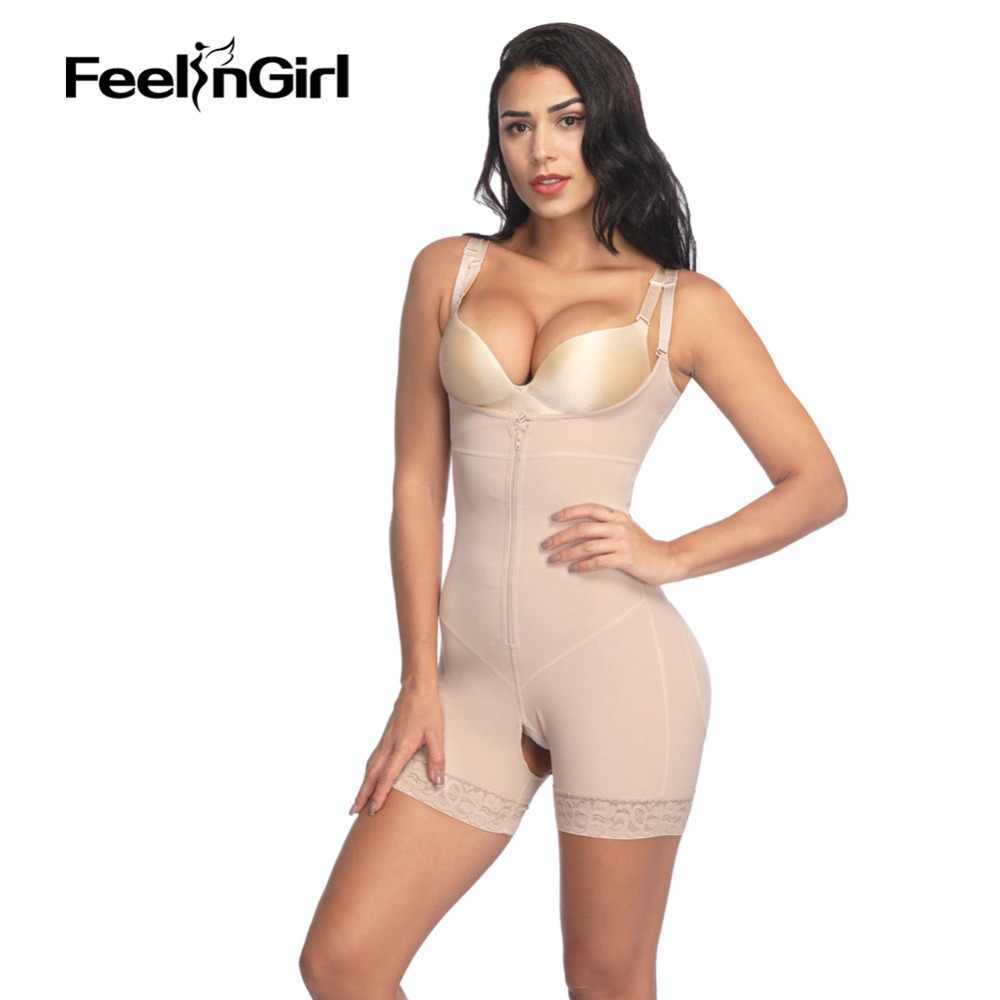 6f382dcd2f6 FeelinGirl Women Shapewear Open Bust Corset Butt Lifter Bodysuit Underbust  Body Shapers Lingerie Open Crotch Waist