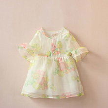 2016 Summer Girl Clothes Floral Princess Costume Baby toddler Cotton Lace Evening Party Dresses Deguisement Enfant Meisjes Jurk