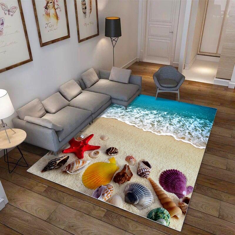 3D Sea World Carpet Corridor Aisle Rug Hotel Entrance Hallway Bedroom Mat Kitchen Floor Mats For The Living Room Rug Custom