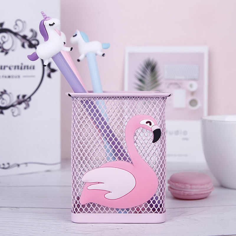 1 pcs Cactus Kawaii Unicórnio Rosa Flamingo Caixa de Lápis Caneta Caixa de Armazenamento de Escritório Em Casa Gerenciar Estande Titular artigos de Papelaria do Estudante